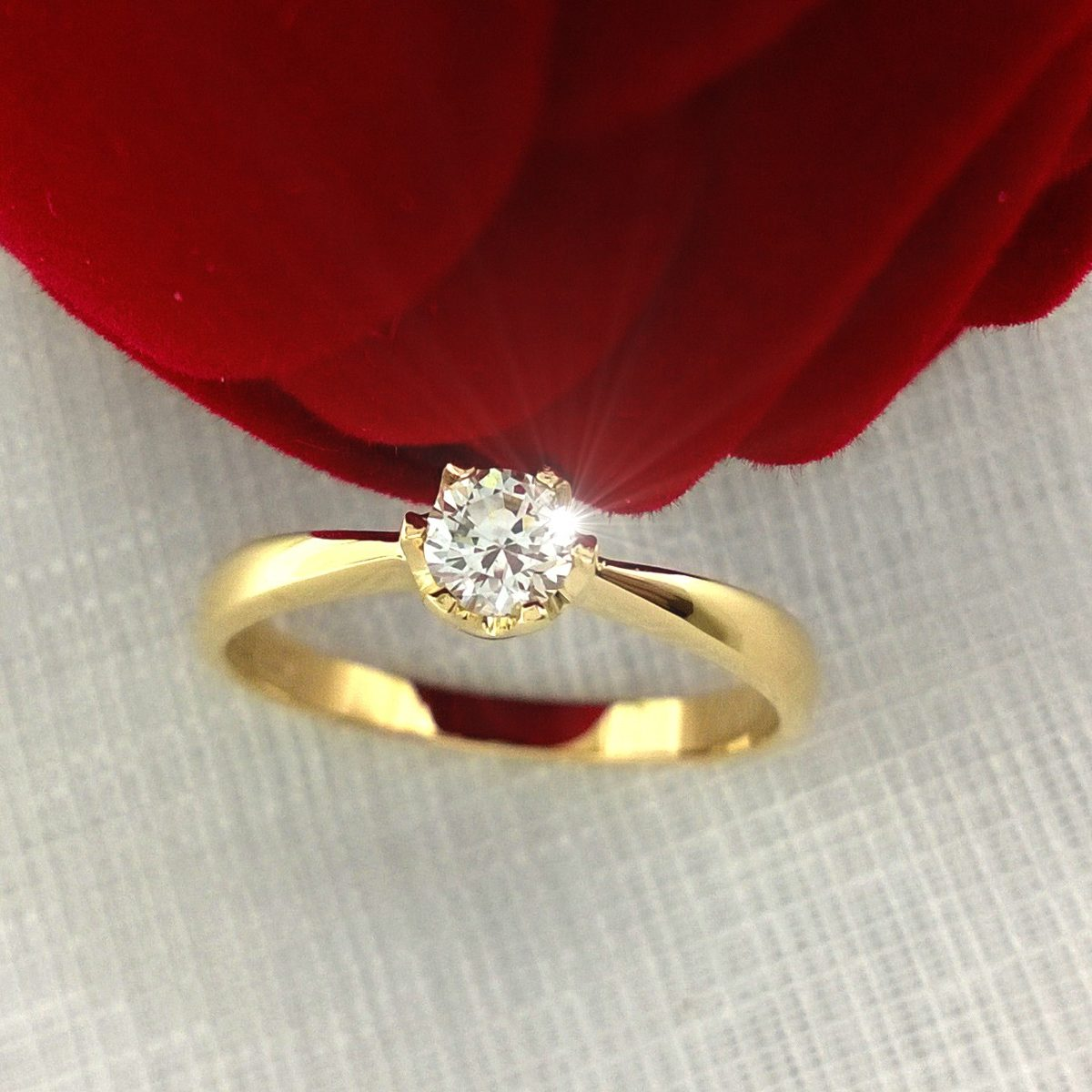 15ff3565ba556 anel diamante 0.23 ct ouro 18k maciço solitario gema natural. Carregando  zoom.