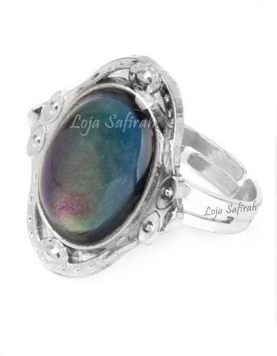 anel do humor - muda de cor oval