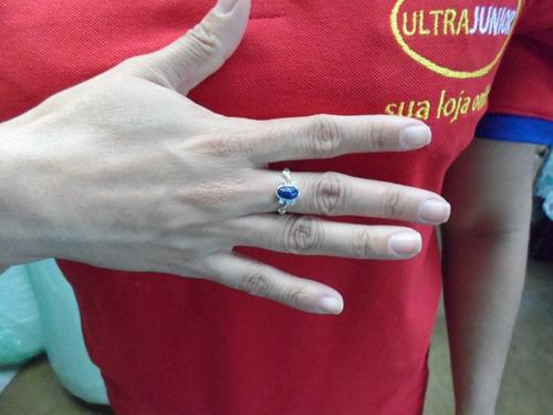 anel elena gilbert the vampire diaries mini pedra azul lapis