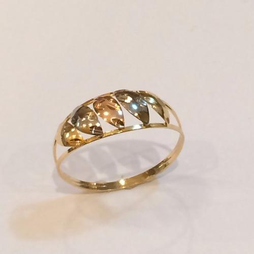anel em ouro 18k 3 cores,frete grátis