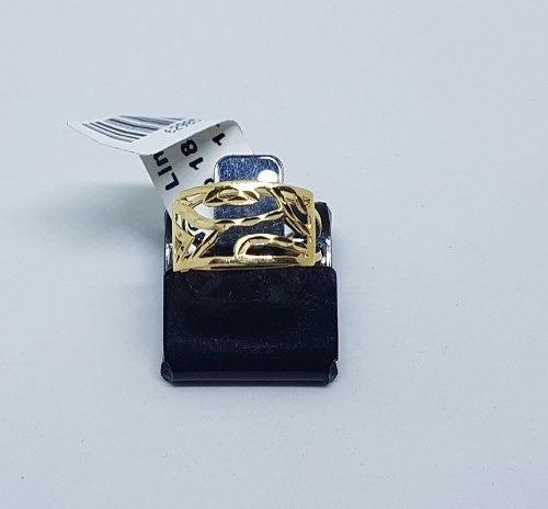 anel em ouro 18k 750 vazado 1,90 gramas numero 15