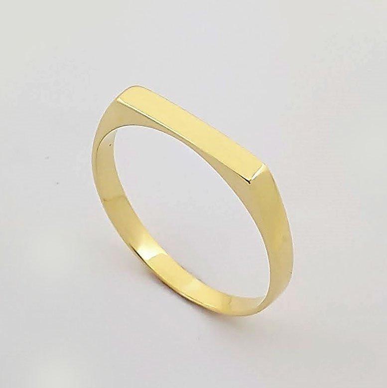 Anel Em Ouro 18k Chapa Amor De Mãe 001 - R  319 4ec4b99096a