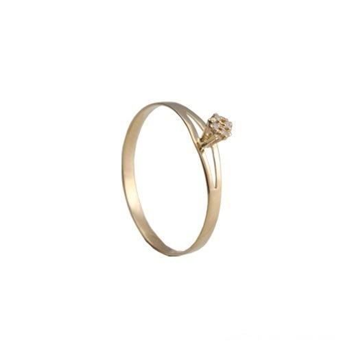 anel em ouro 18k com brilhantes