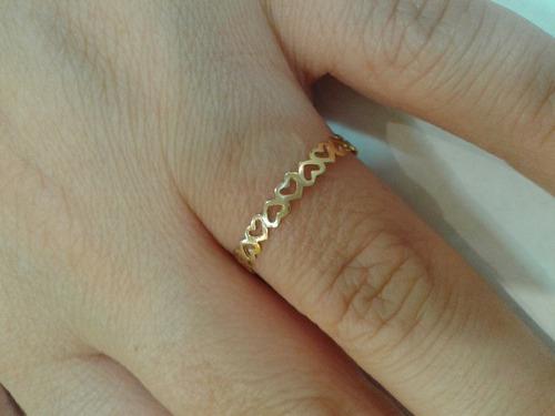 anel em ouro 18k,com garantia,frete grátis