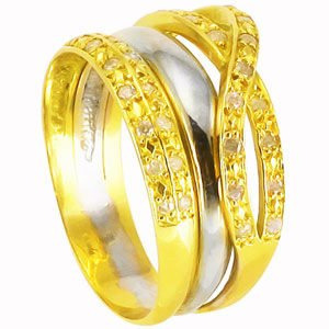 anel em ouro amarelo e branco 18k mais brilhantes !!!