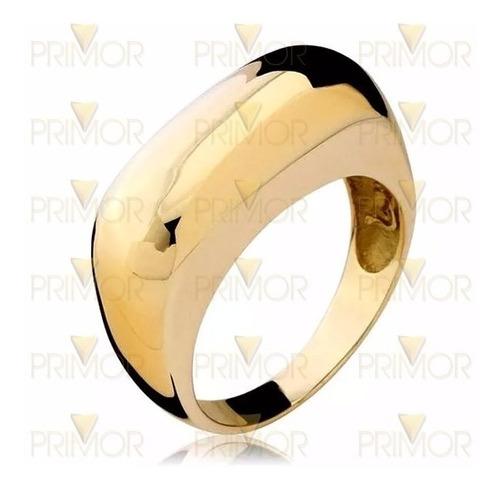 anel em ouro amarelo grande robusto 6g de ouro de 8mm an058