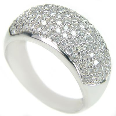 cfd3eb8b108ae Anel Em Ouro Branco 18k Com Diamantes Ótimo Preço Aproveite - R ...