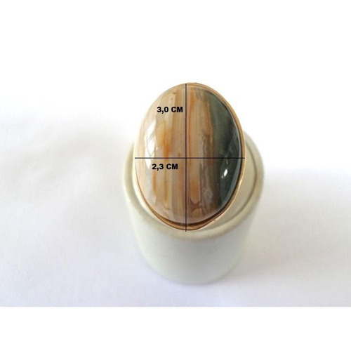 anel em pedra natural policromo