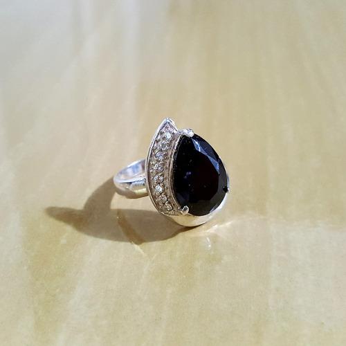 anel em prata 925 com zircônias
