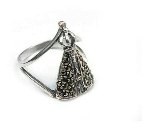 anel em prata 925 indiano nossa senhora