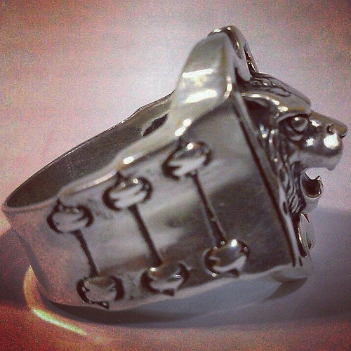 anel em prata 950 leao lion templario maçonaria