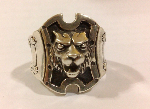 anel em prata 950  lion templario maçonaria maçom maçonico