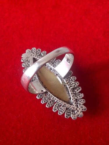 anel em prata bali com abalone