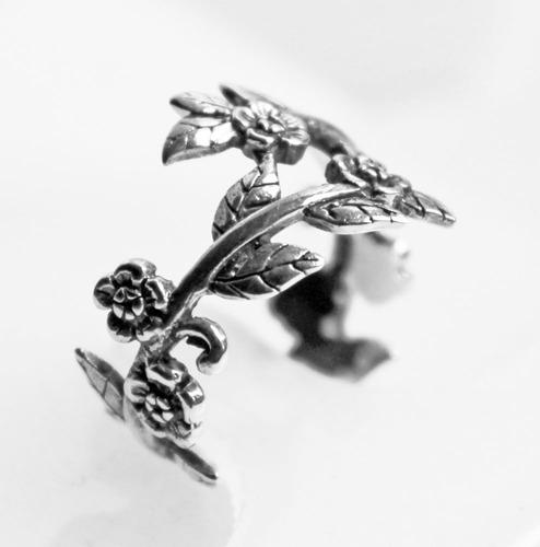 anel em prata de bali trabalhada