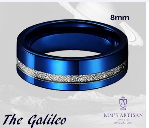 anel em tungstenio  ouro 18k e turquesa