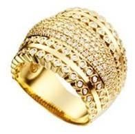 anel estilo classico - c/ zircônias cristal - banho ouro 18k