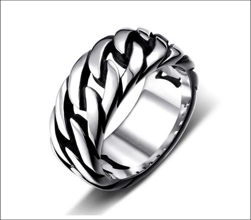 anel estilo corrente aço unissex importado