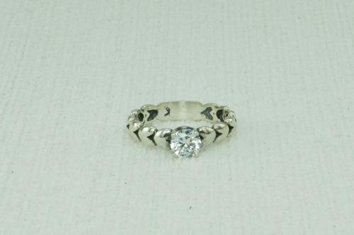 anel estilo pandora zicornia solitario (l) prata 925