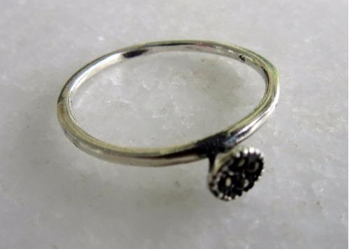 anel estilo prata 925 com marcassitas aro 19