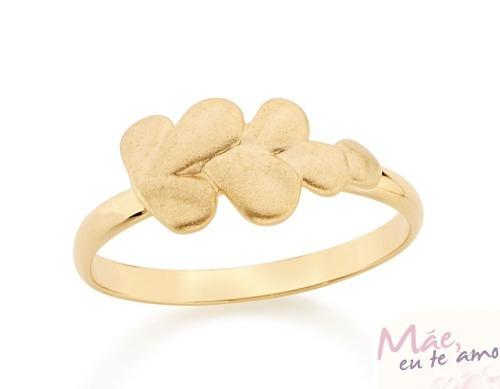 anel f. ouro 18k feminino skinny ring folhas rommanel 512236