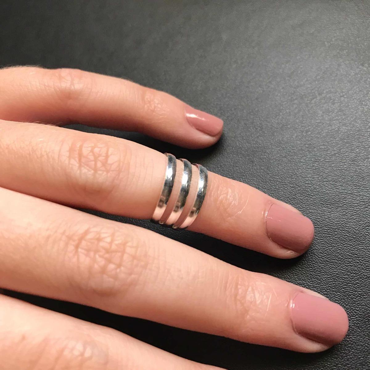 b2201456ba8 anel falange 3 fios - prata 925. Carregando zoom.
