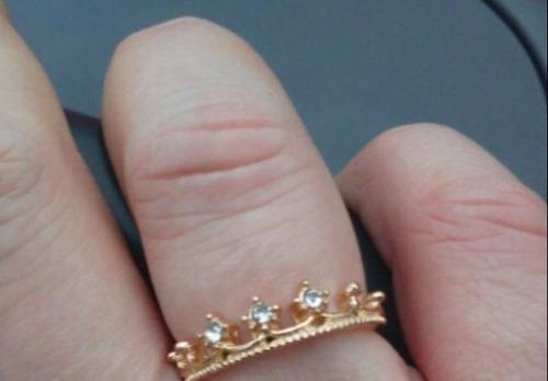 anel falange coroa  dourado feminino presente frete gratis