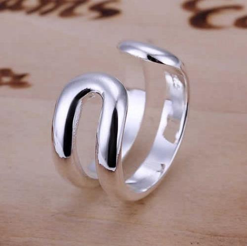 anel feminino banhado prata 925 gravado 2 cm aro 25 lindo