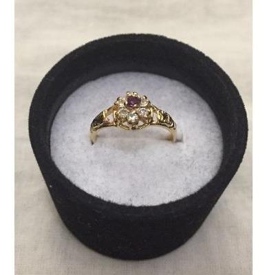 anel feminino de formatura banhado a ouro 18k feminino
