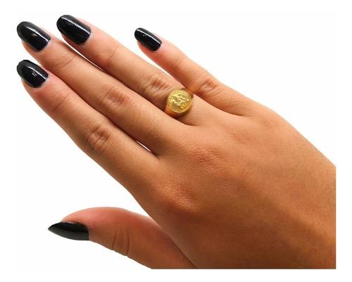 anel feminino dedinho são bento 3.20gr ouro 18k  k320 18728