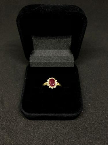 anel feminino em ouro18k e pedras naturais
