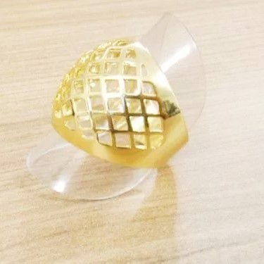 anel feminino estilo aramado tela folheado a ouro semi joia