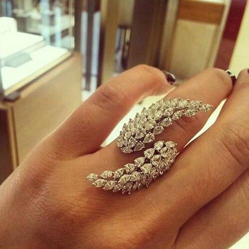 anel feminino folheado em ouro 18k ajustavel festa casamento