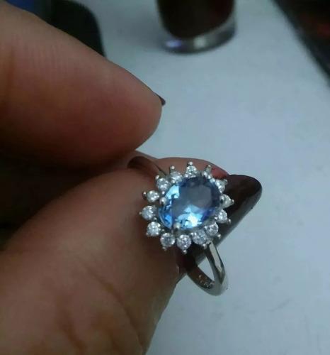anel feminino prata 925 pedra topázio alexandrita