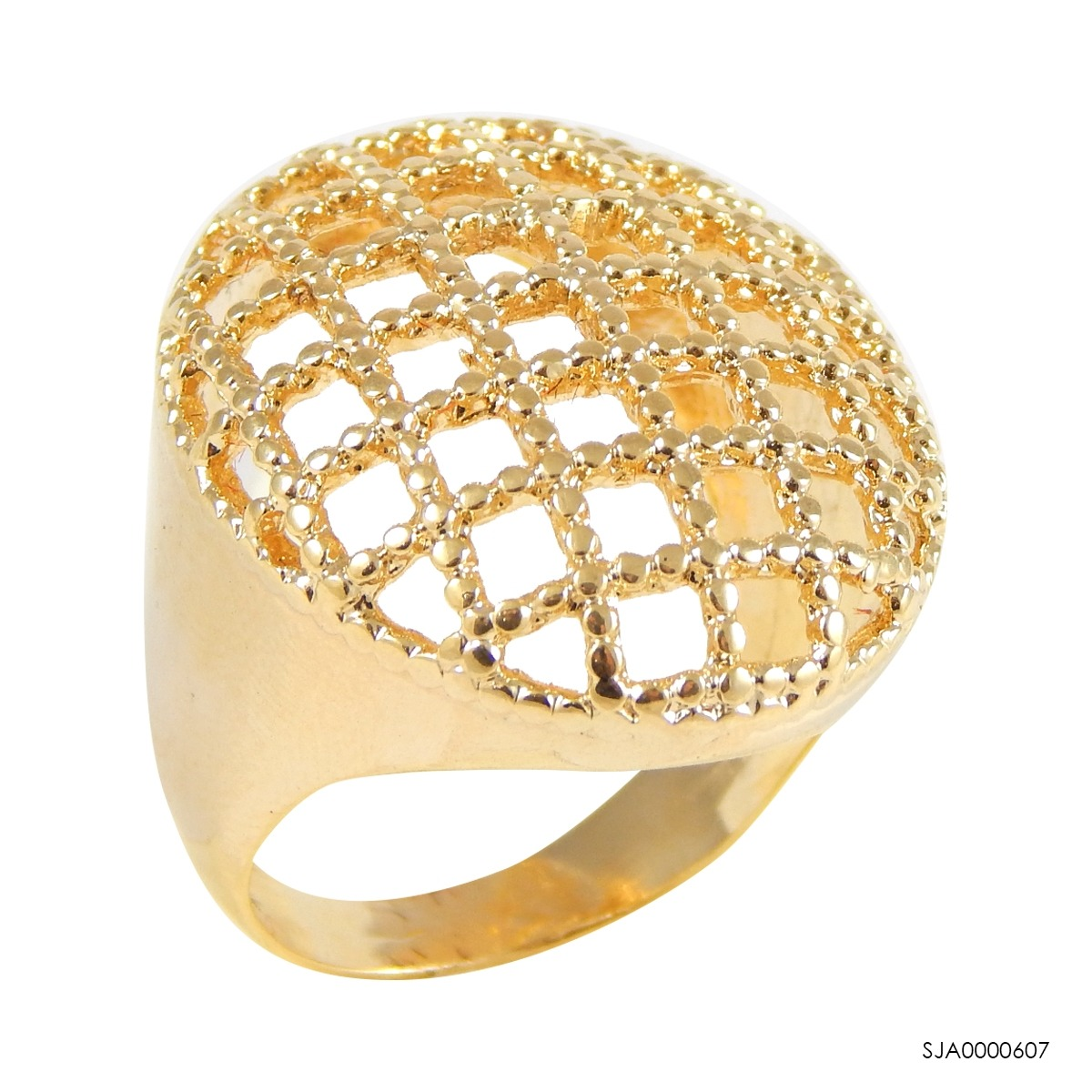 5dcd46d06 anel feminino vazado semi-joia com banho de ouro 18k sja0000. Carregando  zoom.