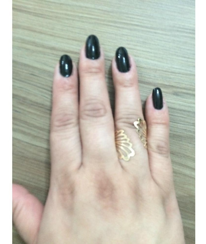 anel filigrana clara folheado - melanys acessórios