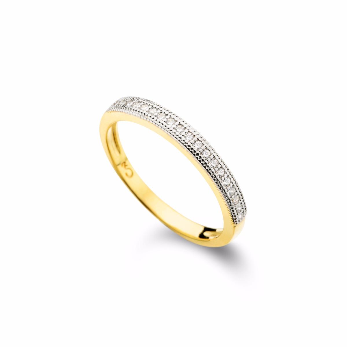 226183e00dd9d anel fino com meia fileira de zircônia aparador de aliança. Carregando zoom.