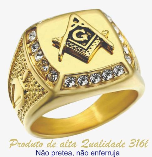anel folheado a ouro 18 m