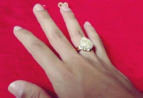 anel folheado a ouro 18k (ajustável)