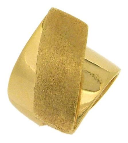 anel folheado a ouro 18k fosco