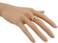 anel folheado a ouro cravejado de micros zirconeas