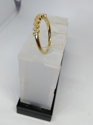 anel folheado ouro 18k aparador de aliança zircônia cristal