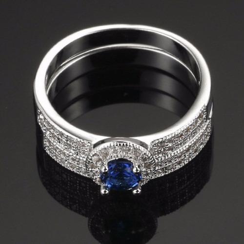 anel formatura c/ aparador pedagogia ciências safira azul