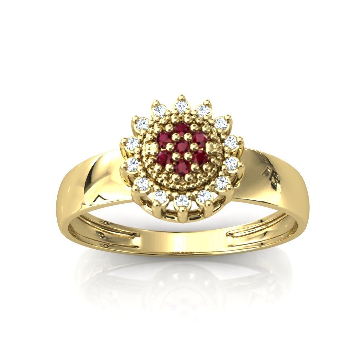 2bab5f96a3f anel formatura centro cravejado redondo ouro 18k zircônia. Carregando zoom.