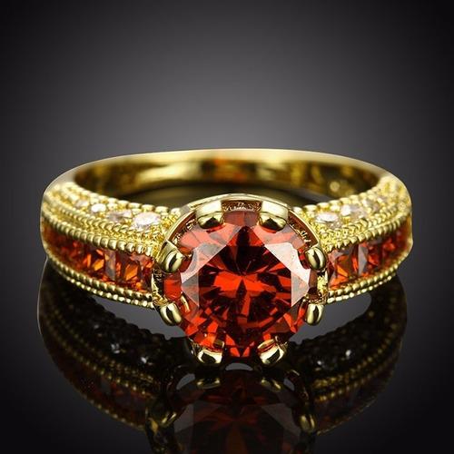 anel formatura direito advogado rubi vermelho banhado ouro