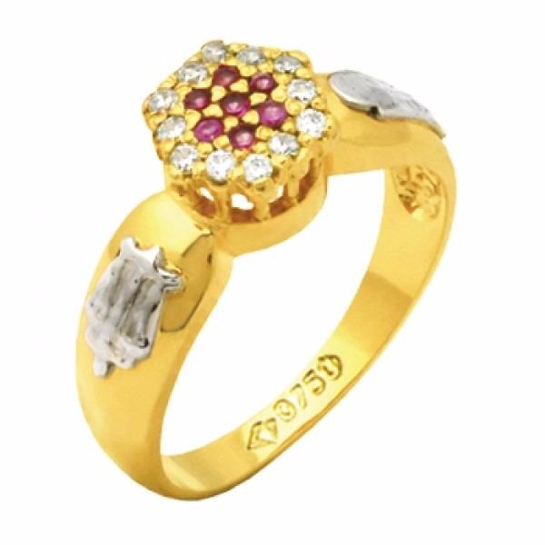 363a7e90c987c Anel De Formatura Direito Feminino Ouro 18k Com Emblemas - R  895,99 ...