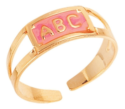 anel formatura infantil rosa