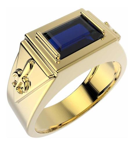 anel formatura masculino pedagogia banhado a ouro 18 k