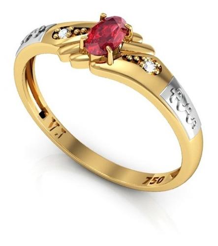 anel formatura ouro 18k