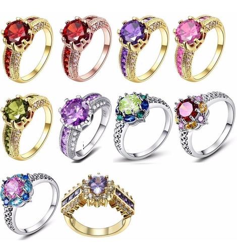 anel formatura rubi - ametista - turmalina - rosa - verde