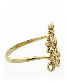 anel frança!! em ouro amarelo  18k com brilhantes!!
